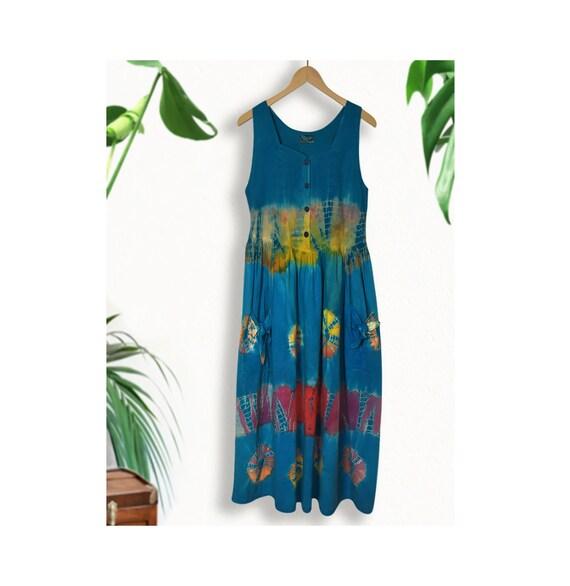 Tank Dress- Summer Dress- Boho Dress- Hippie Dress