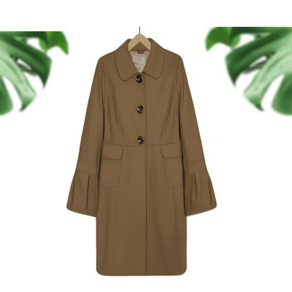 Womens Wool Coat- Wool Winter Coat- Long Coat- Woo