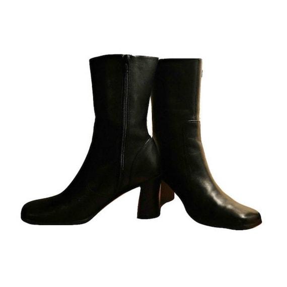 high leather boots boots boots boots 7 boots black black boots boots ankle M women's heel black heel boots Women's ankle boots wCA0nqxgA