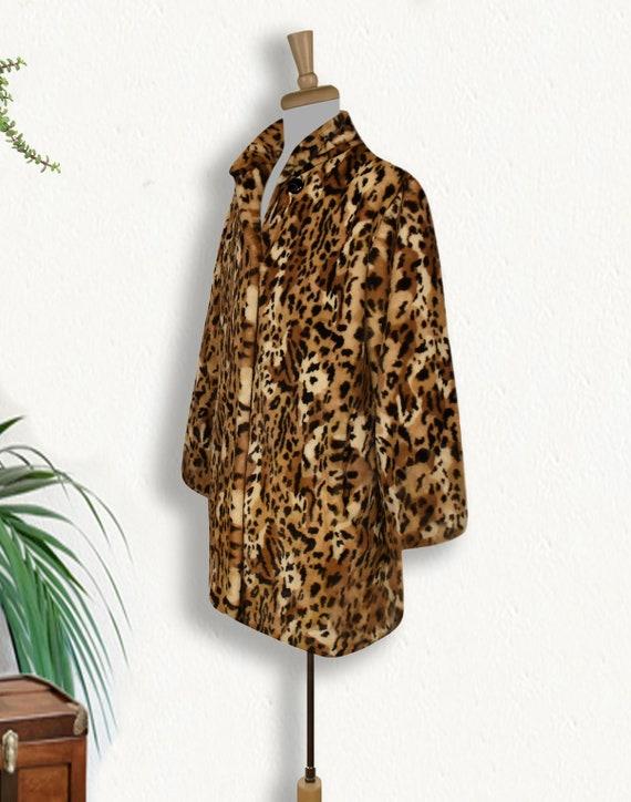 Women's Leopard Coat- Leopard Print Coat- Animal … - image 3