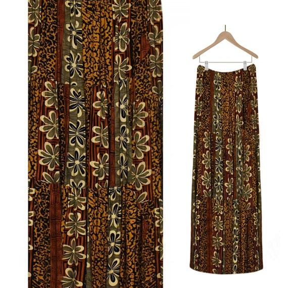 Women's Maxi Skirt- Long Skirt- Vintage Skirt- Flo
