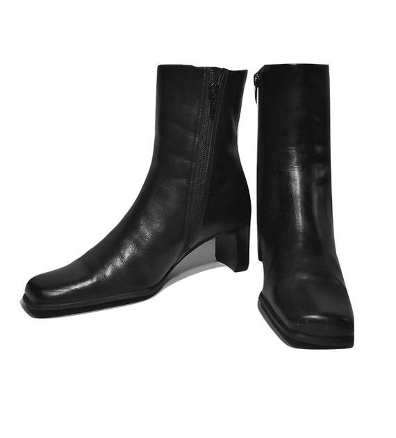 leather boots heel heel black boots ankle high women's boots Women's Brazilian black boots boots boots boots black ankle boots boots XFWZqB