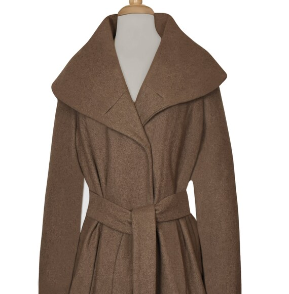 Women's Wool Coat- Wrap Coat- Belted Coat- Shawl … - image 9