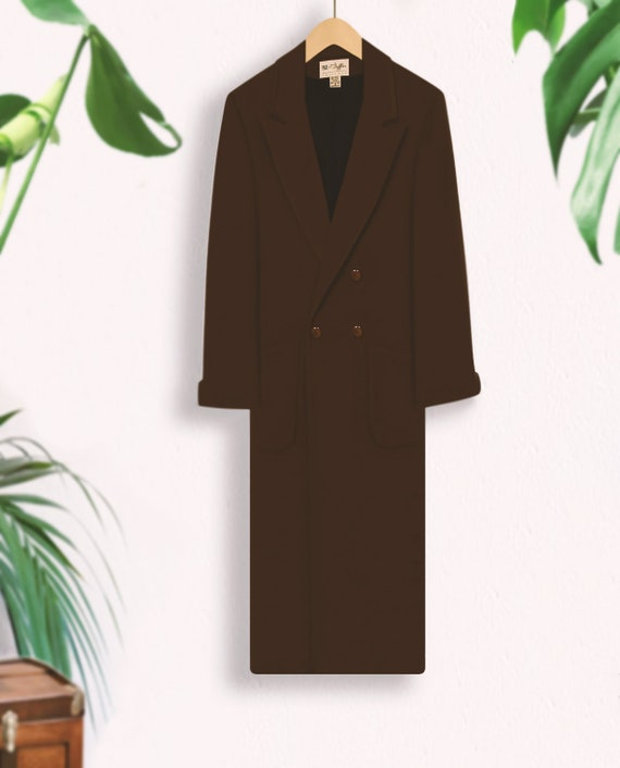 Women's Vintage Coat- Wool Coat- Long Coat- Maxi … - image 4