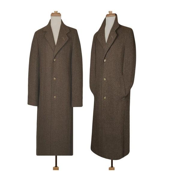 Men's Long Coat- Wool Coat- Winter Coat- Long Wool