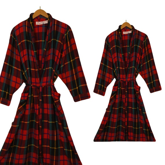 Women's Bathrobe- Flannel Robe- Long Robe- Cotton