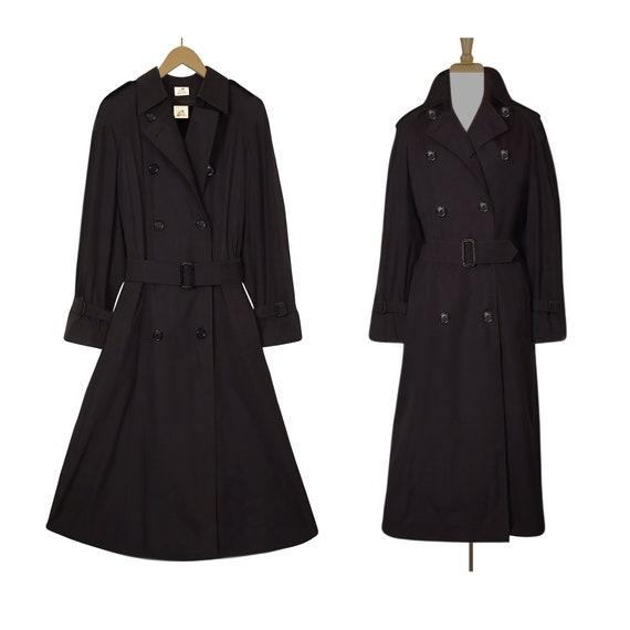 Winter Coat- Black Trench Coat- Long Black Coat- B