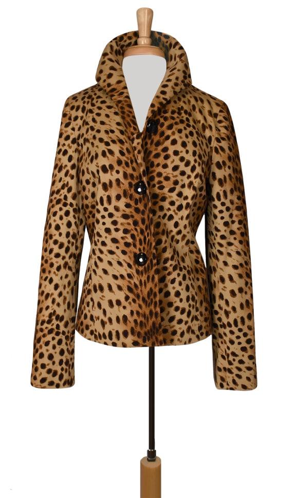 Leopard Jacket- Leopard Coat- Leopard Print Jacke… - image 5