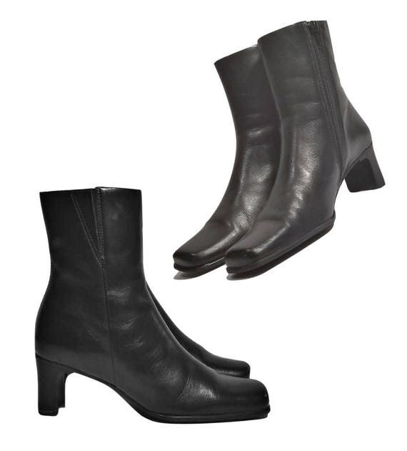 bottines bottes cuir en bottes bottes femmes Bottes noires 8w5B7qq