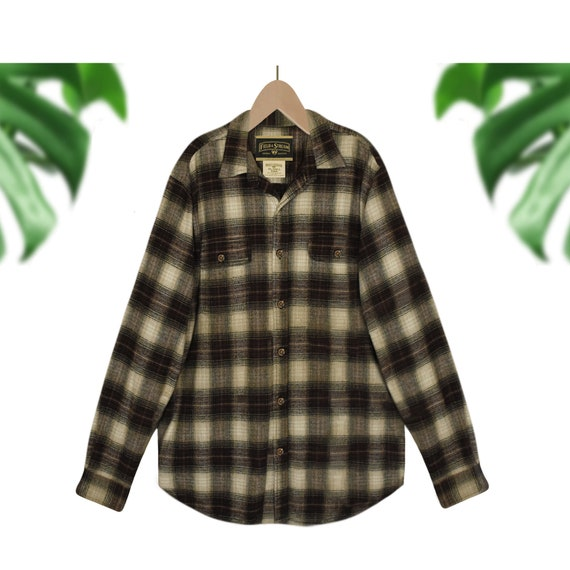 Mens Plaid Shirt- Mens Flannel Shirt- Mens Winter