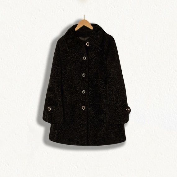 Faux Fur Coat- Winter Coat- Faux Fur Jacket- Black