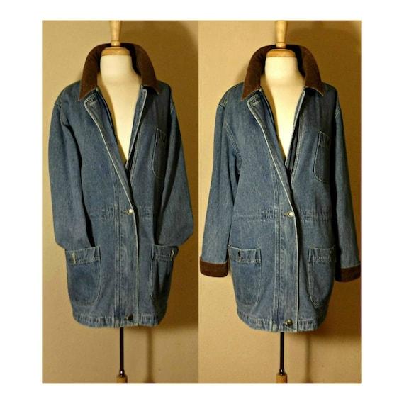 Long Jean Jacket- Denim Coat- Denim Jacket- Blue … - image 1