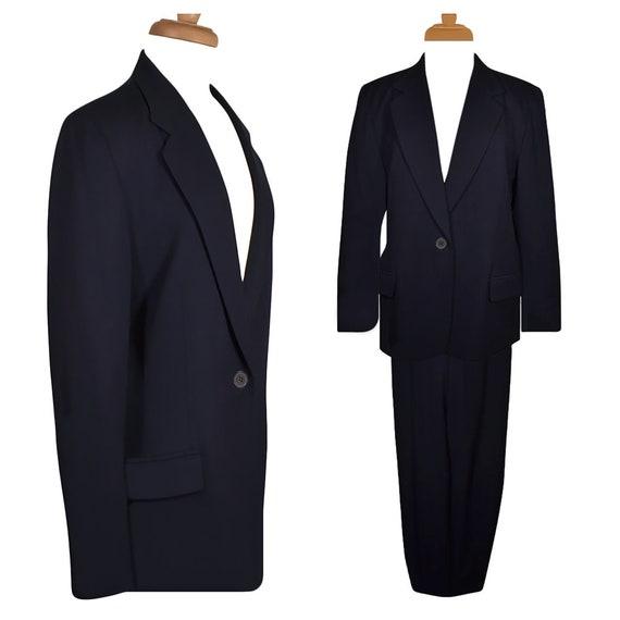 Women's Pantsuit, Pendleton Pant Suit, Wool Pantsu