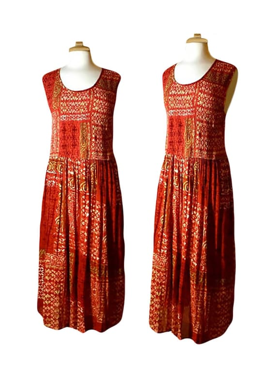 Hippie Dress- Bohemian Dress- Tapestry Dress- Summ