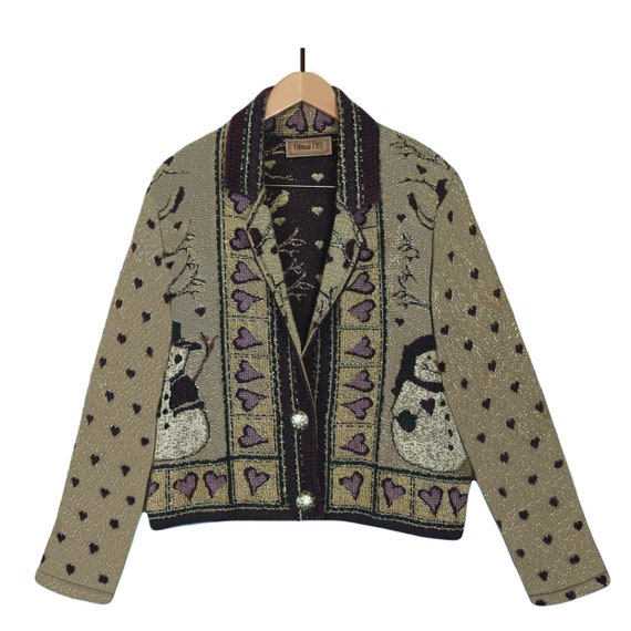 Tapestry Jacket- Tapestry Coat- Cotton Jacket- Wov