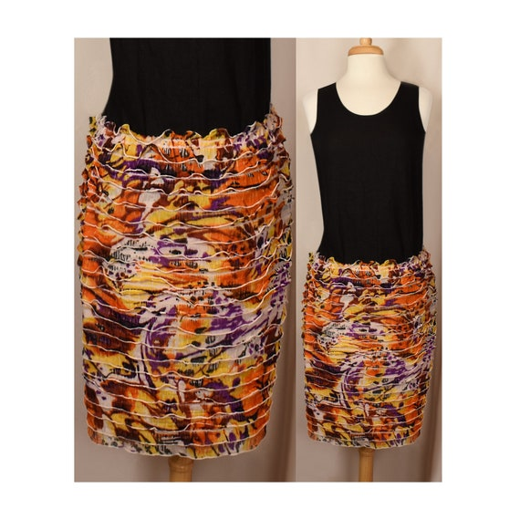 Women's Boho Skirt- Vintage Bohemian Skirt- Short