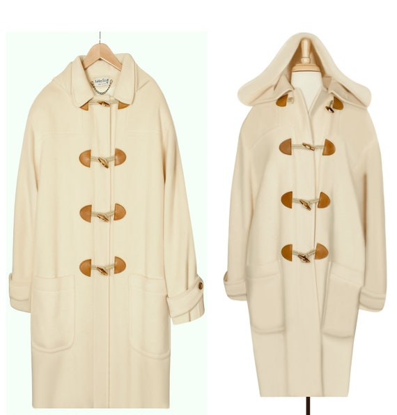 White Coat- Long Coat- Wool Coat- Maxi Coat- Hoode