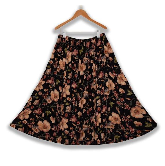 Long Skirt- Floral Skirt- Maxi Skirt- Boho Skirt-