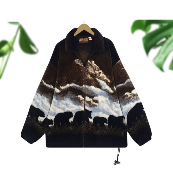 Women's Sherpa Jacket- Sherpa Coat- Bear Jacket- S