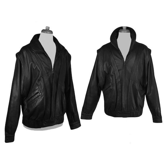 Leather Jacket Men- Black Leather Jacket- Riding J