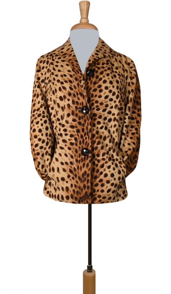Leopard Jacket- Leopard Coat- Leopard Print Jacke… - image 3