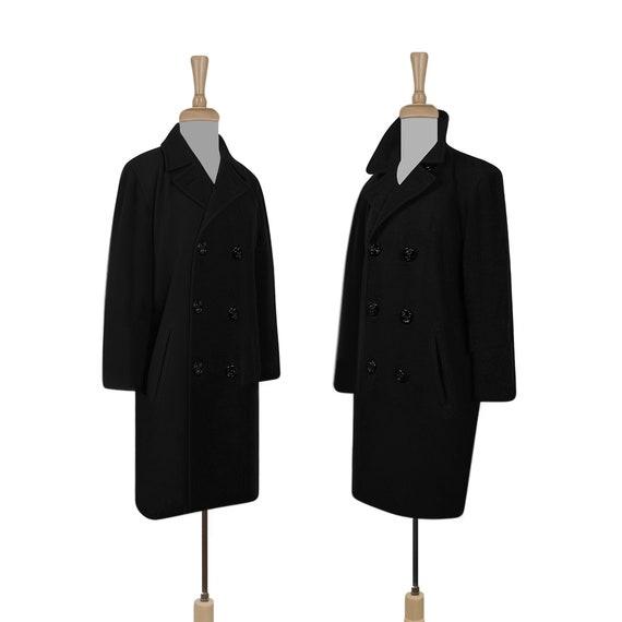 Black Wool Coat- Winter Coat- Black Coat- Wool Cas