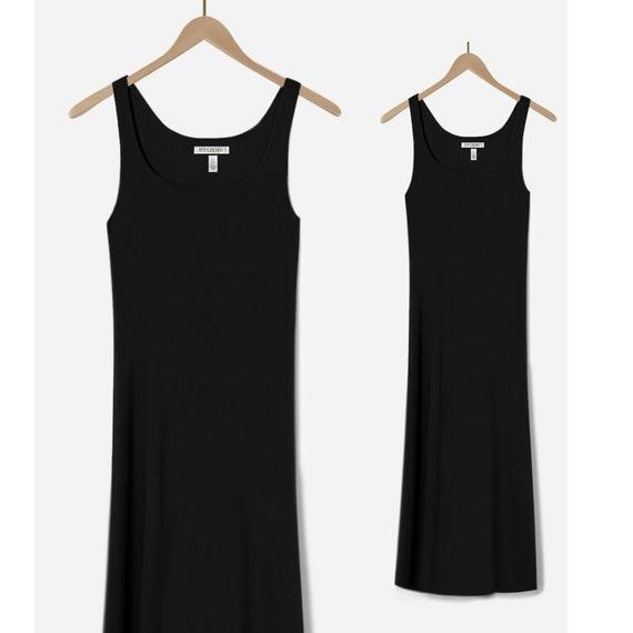 Long Black Dress- Black Maxi Dress- Sleeveless Bla