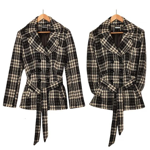 Women's Wool Jacket- Belted Jacket- Belted Coat- P