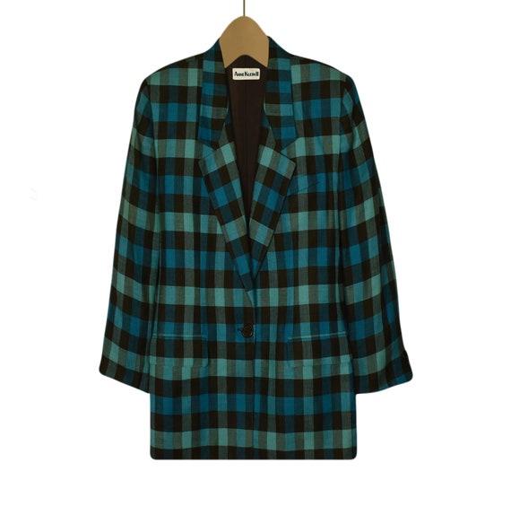Women's Blazer- Linen Jacket- Linen Blazer- Plaid… - image 2