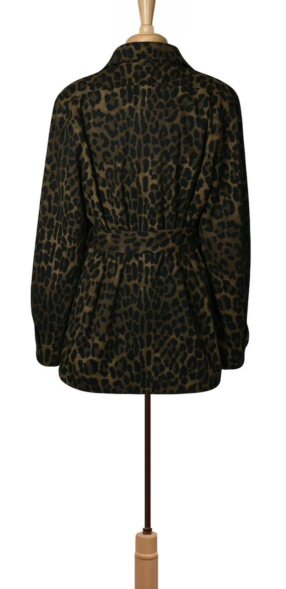 Women's Jacket- Leopard Jacket- Leopard Print Jac… - image 8