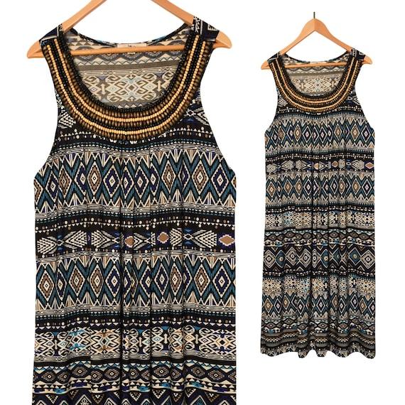 Summer Dress- Boho Dress- Bohemain Dress- Midi Dre