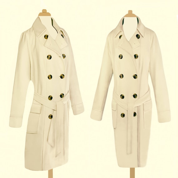Long White Coat- White Maxi Coat- Wool Coat- Belte