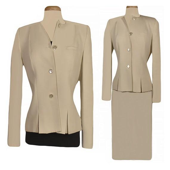 Women S Suit Skirt Suit White Suit Wedding Suit Formal Etsy