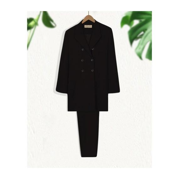 Women's Pant Suit- Black Suit Women- Business Suit