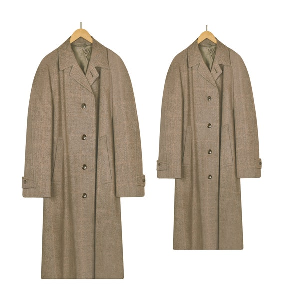 Mens Wool Coat- Long Coat- Mens Winter Coat- Long