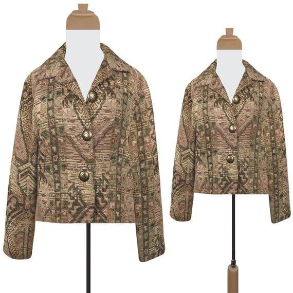 Bolero Jacket- Tapestry Jacket- Tribal Jacket- Sou