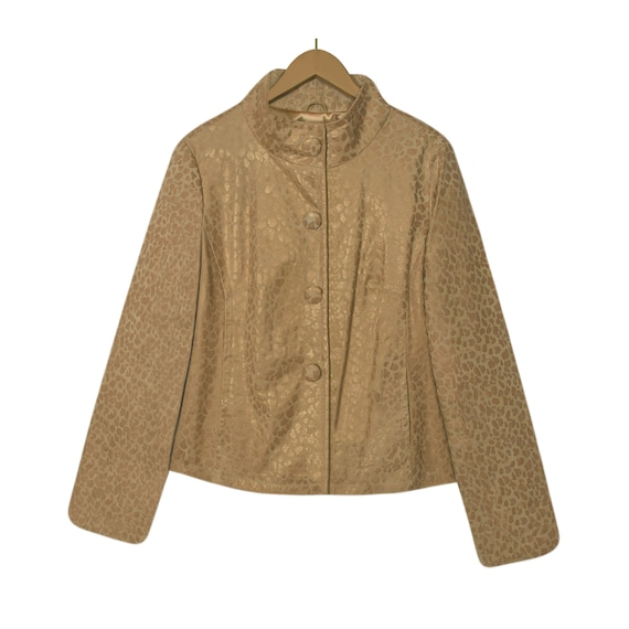 Leopard Print Jacket- Leather Jacket- Leopard Jack