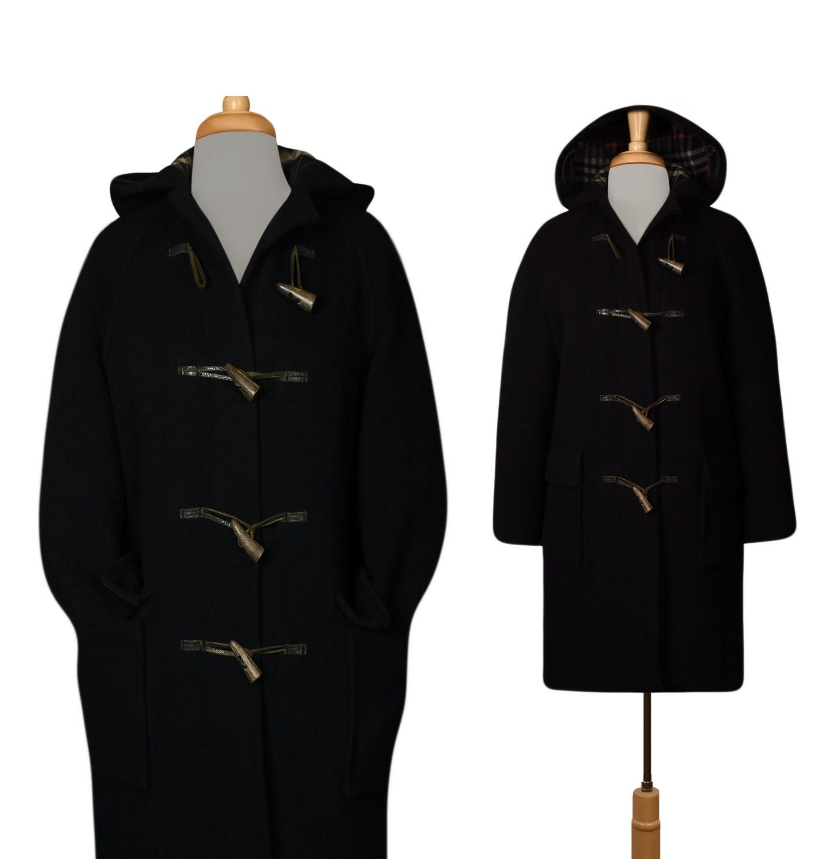 513150dce Vintage Burberrys Coat- Wool Coat- Women's Coat- Winter Coat- Parka- Hooded  Coat- Duffle Coat- Overcoat- Toggle Coat- Long Coat- Outdoors