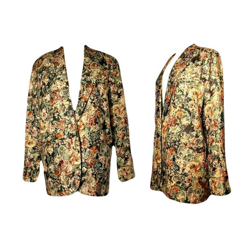 1e811f0c953 Women s Vintage Coat floral jacket tapestry coat