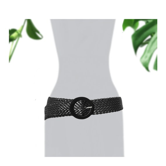 Wide Black Belt- Plus Size Belt- Black Leather Bel