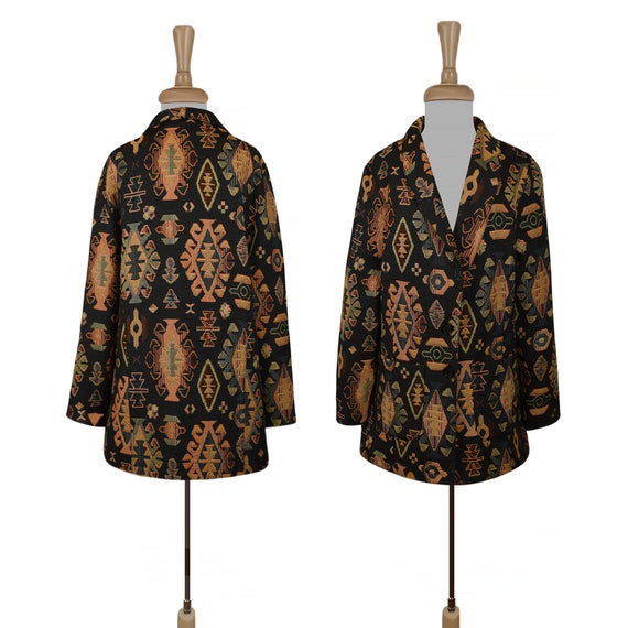 Tapestry Jacket- Boho Jacket- Indian Jacket- Bohem