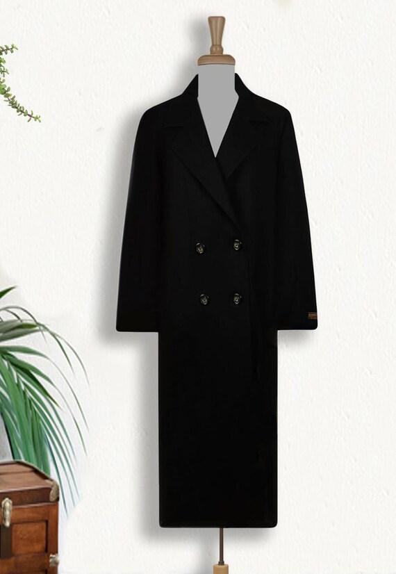 Vintage 70s Pendleton Coat- Womens Wool Coat- Bla… - image 3
