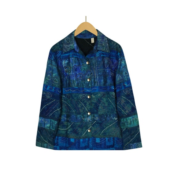 Silk Jacket- Hippie Jacket- Ethnic Jacket- Festiva