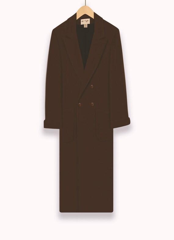 Women's Vintage Coat- Wool Coat- Long Coat- Maxi … - image 5