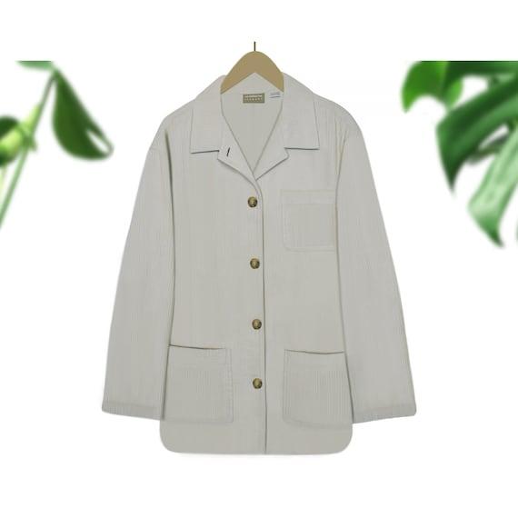 Corduroy Jacket- Cord Jacket- Corduroy Coat- White