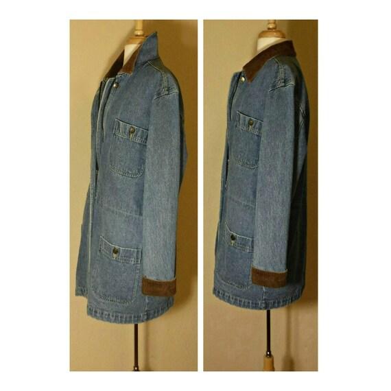 Long Jean Jacket- Denim Coat- Denim Jacket- Blue … - image 3