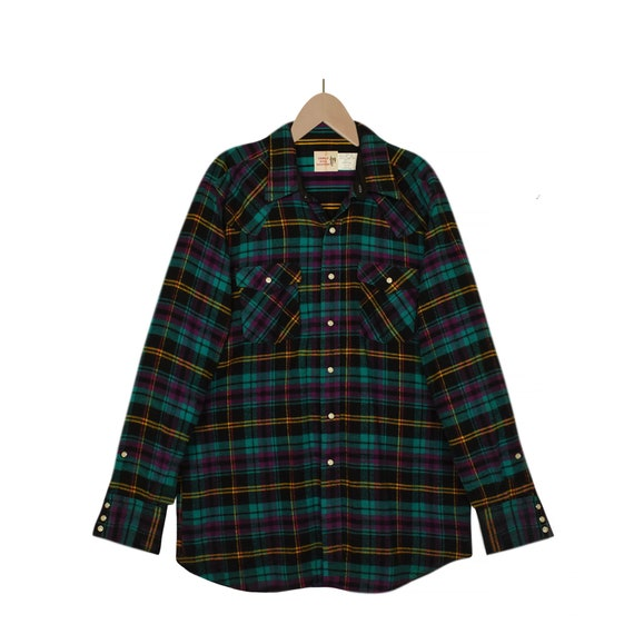 Mens Flannel Shirt- Plaid Shirt- Mens Western Shir