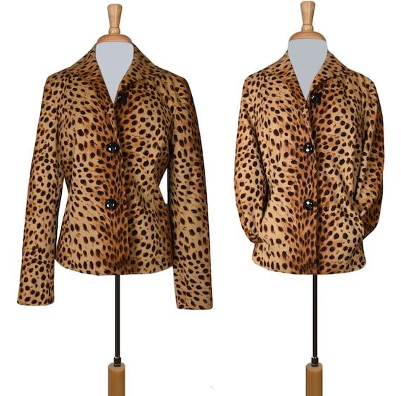 Leopard Jacket- Leopard Coat- Leopard Print Jacke… - image 4