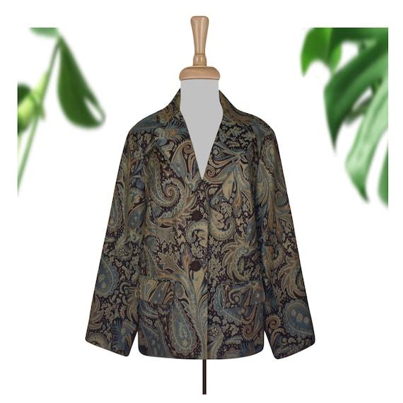 Vintage Tapestry Jacket- Tapestry Coat- Paisley Ja