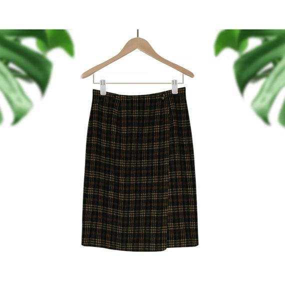 Womens Wool Skirt- Short Wool Skirt- Plaid Wool Sk